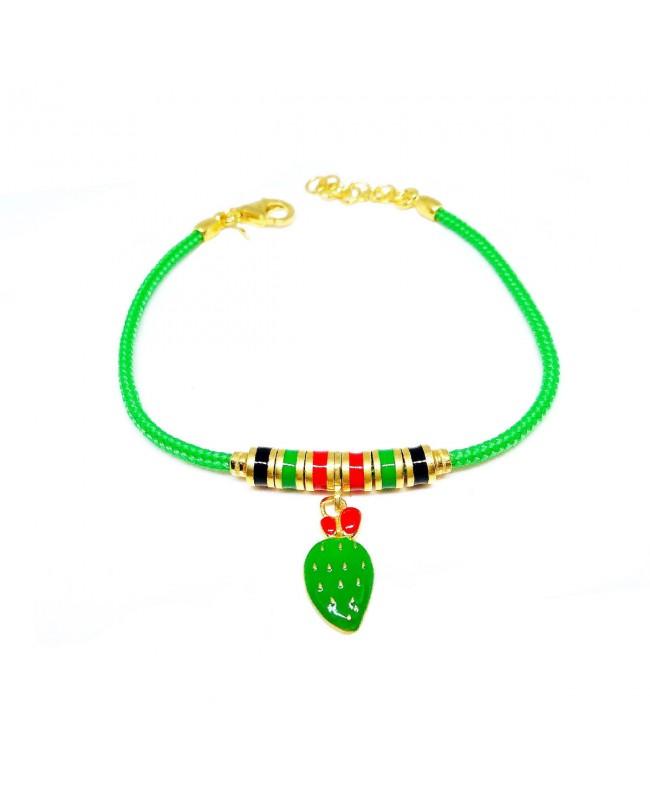 Bracelet Ficodindia Pendente Cordino Verde Articolo 3B - 1 - Bracelets