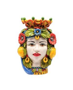Vaso Testa Di Moro Limoni B68 - 1 - Ceramica