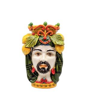 Vaso Testa Di Moro Limoni B69 - 1 - Ceramica