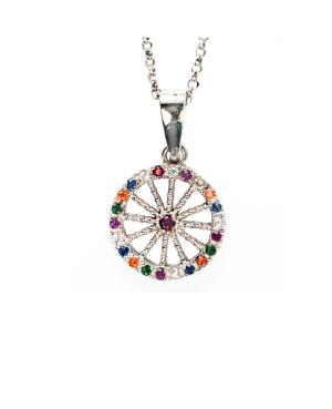 copy of Necklace Ruota Med Zirc Multicolor IMPD36D - 1 - Necklaces