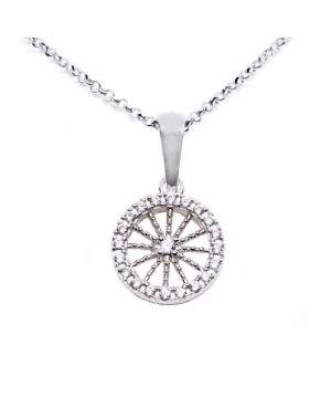 Necklace Ruota Med Zirc Bianchi IMPD36R - 1 - Necklaces