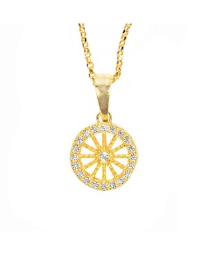 Necklace Ruota Med Zirc Bianchi IMPD36D - 1 - Necklaces