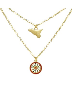 copy of Necklace Ruota Med Zirc Bianchi IMPD36R - 1 - Necklaces