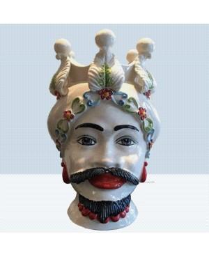 Vaso Testa di Moro HKF BIANCO FIORE 33 SM - 1 - Ceramica